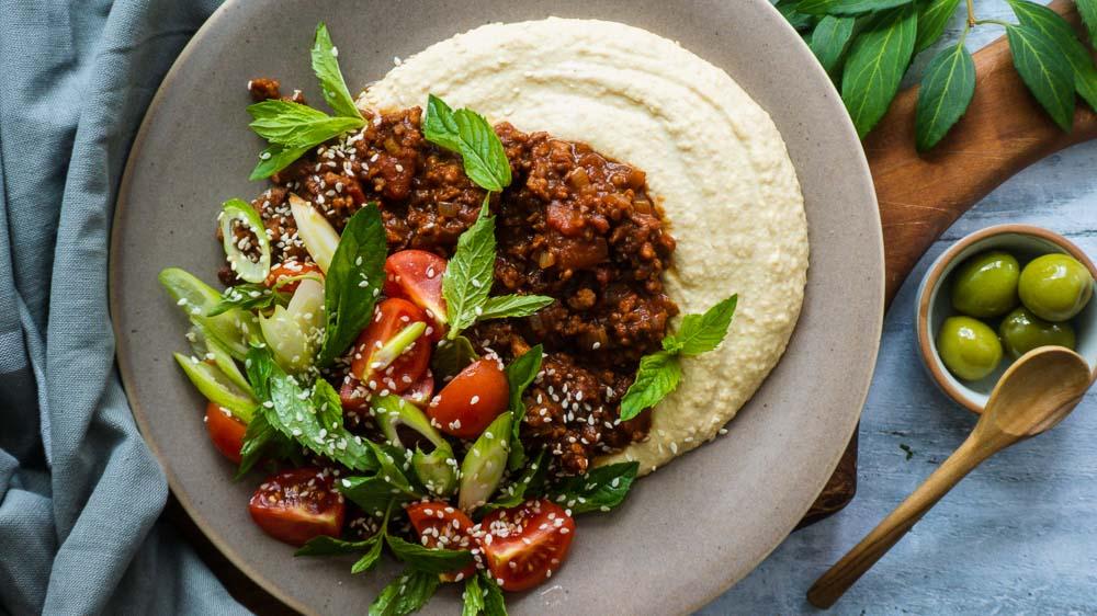 veganes-hamshuka-tomate-minze