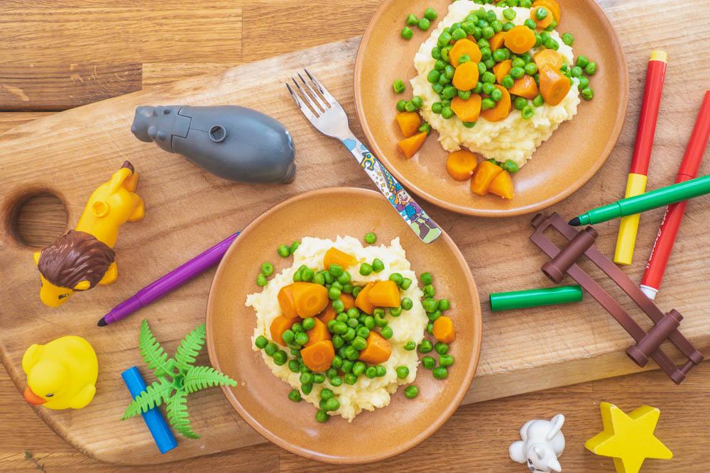 veganes-kartoffelpüree-möhren-erbsen