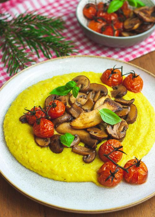 cremige-polenta-pilze